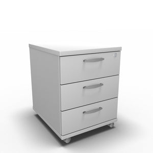 Pedestal 430 x 500 x 510 / White Synergy Under Desk Pedestals