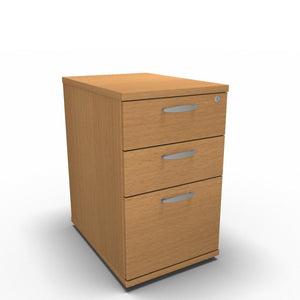 Pedestal 430 x 600 x 650mm / Beech Synergy Desk High Pedestals