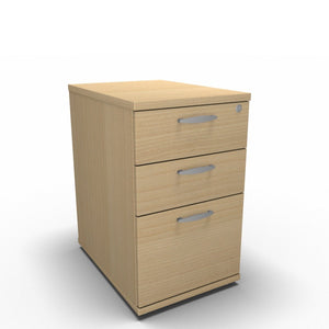 Pedestal 430 x 600 x 650mm / Maple Synergy Desk High Pedestals