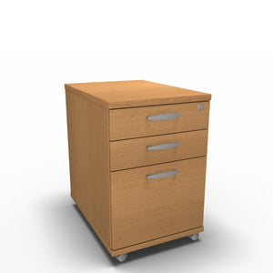 Pedestal 430 x 650 x 600mm / Beech Synergy Under Desk Pedestals