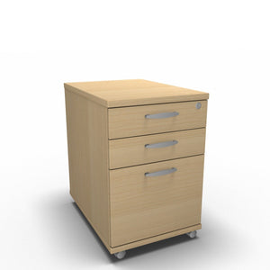 Pedestal 430 x 650 x 600mm / Maple Synergy Under Desk Pedestals