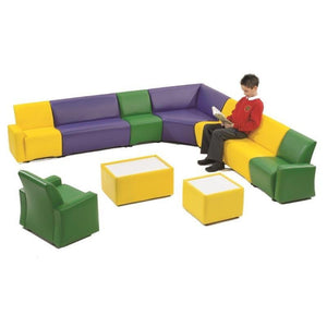 Soft Seating 3 Seater Unit Winslow Low Reception Seating
