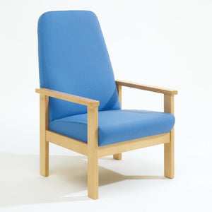Soft Seating High Back, Armchair Romsey Beech Frame Seating