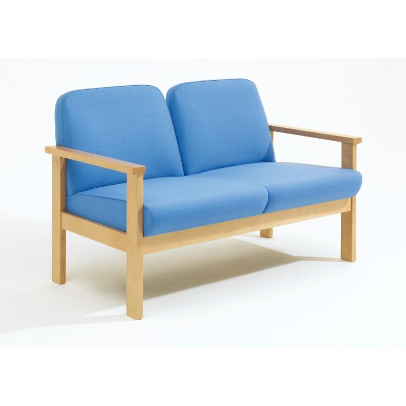 Soft Seating Low Back 2 Seater Romsey Beech Frame Seating