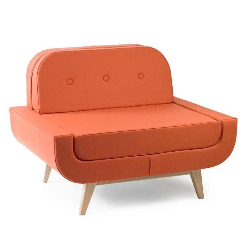 soft seating Single Seat Bench with Back Pop Sofa Collection Single Seat Bench with Back