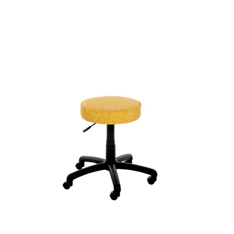 Stool Black Swivel Leyton Round IT Swivel Stool On Castors