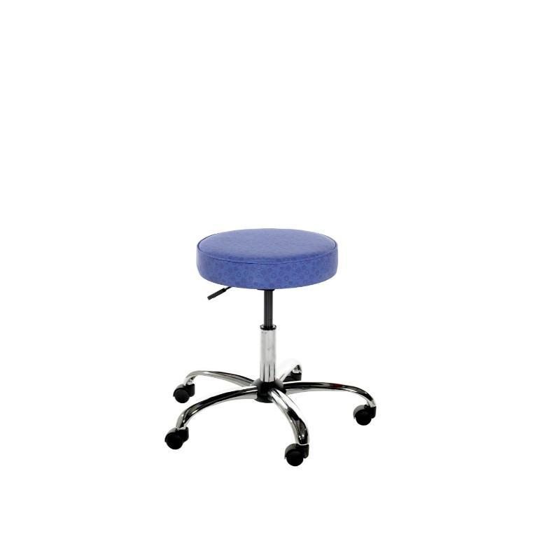 Stool Chrome Swivel Leyton Round IT Swivel Stool On Castors