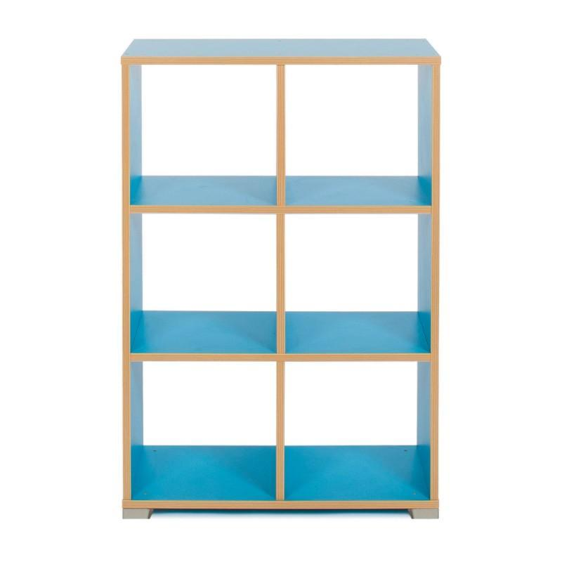 Storage Unit Candy Colours 6 Cube (3 x 2) Room Divider