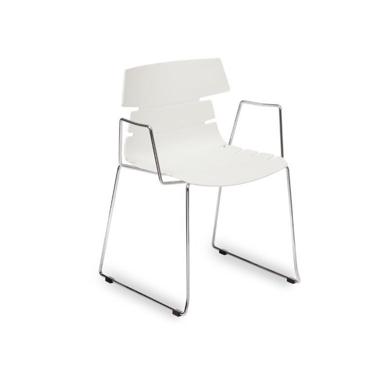 Strata Side Chair with Chrome Skid Frame