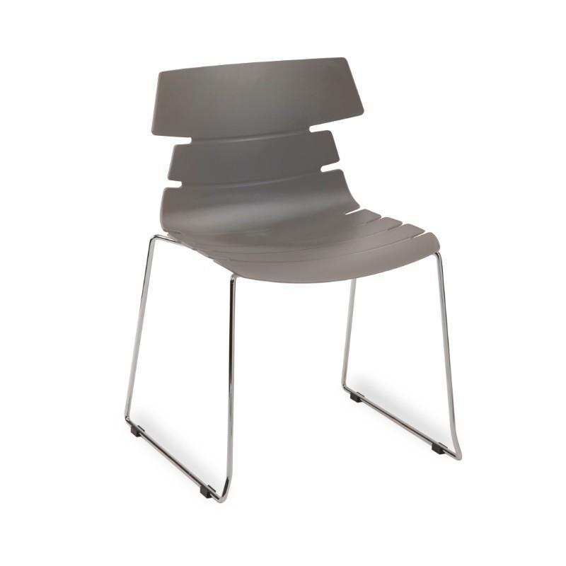Strata Side Chair with Chrome 4 Skid Frame