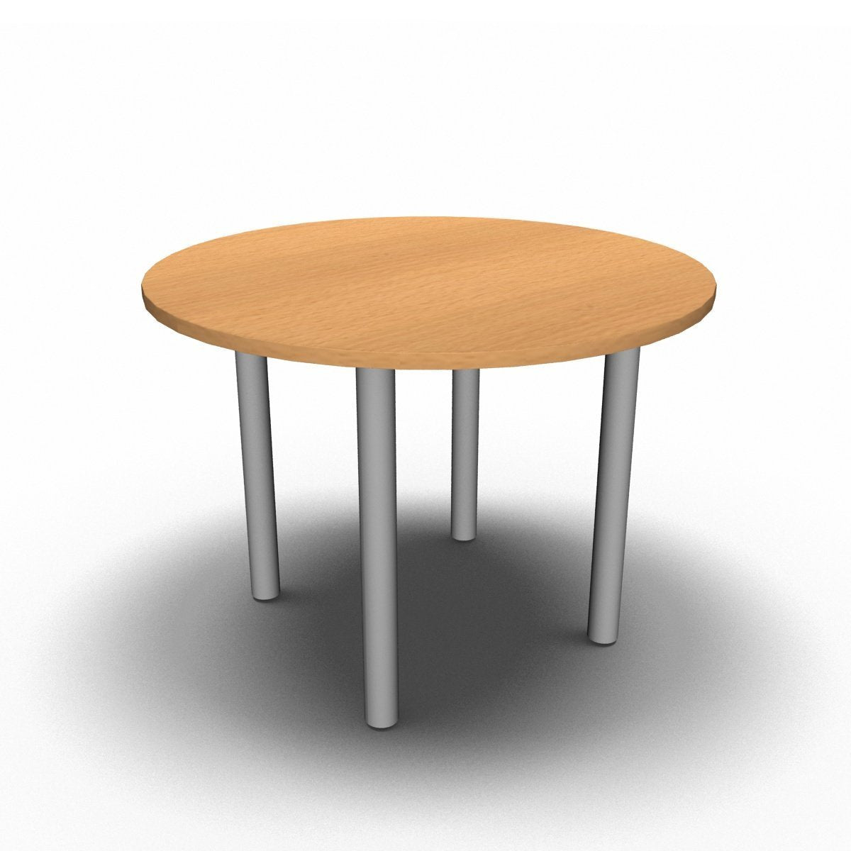 Table 1000mm Diameter - 60mm Legs / Beech Synergy Round Meeting Table