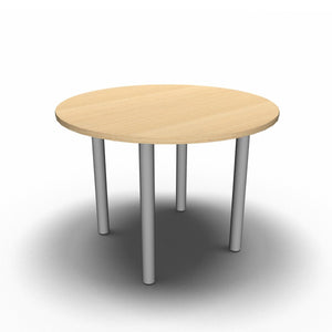 Table 1000mm Diameter - 60mm Legs / Maple Synergy Round Meeting Table