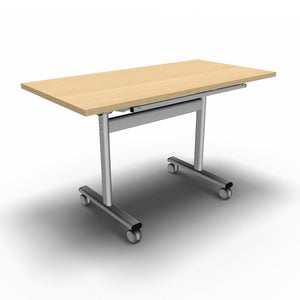 Table 1200 x 600 x 720mm / Rectangular / Maple Synergy Flip Top Tables
