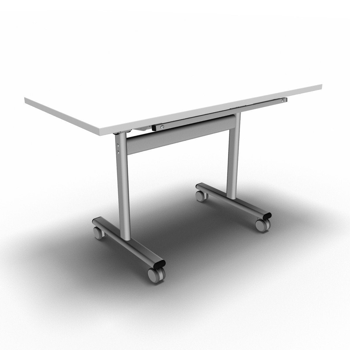 Table 1200 x 600 x 720mm / Rectangular / White Synergy Flip Top Tables