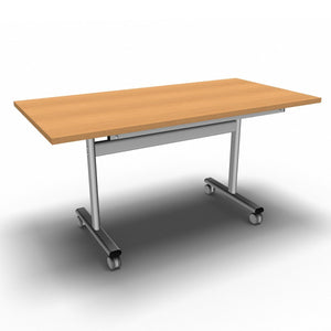 Table 1400 x 700 x 720mm / Rectangular / Beech Synergy Flip Top Tables