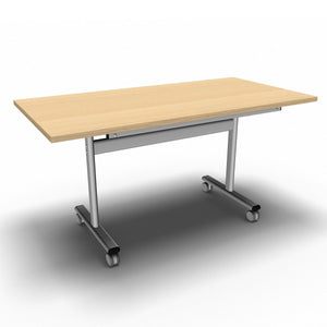 Table 1400 x 700 x 720mm / Rectangular / Maple Synergy Flip Top Tables