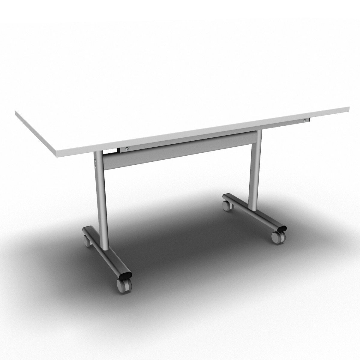 Table 1400 x 700 x 720mm / Rectangular / White Synergy Flip Top Tables