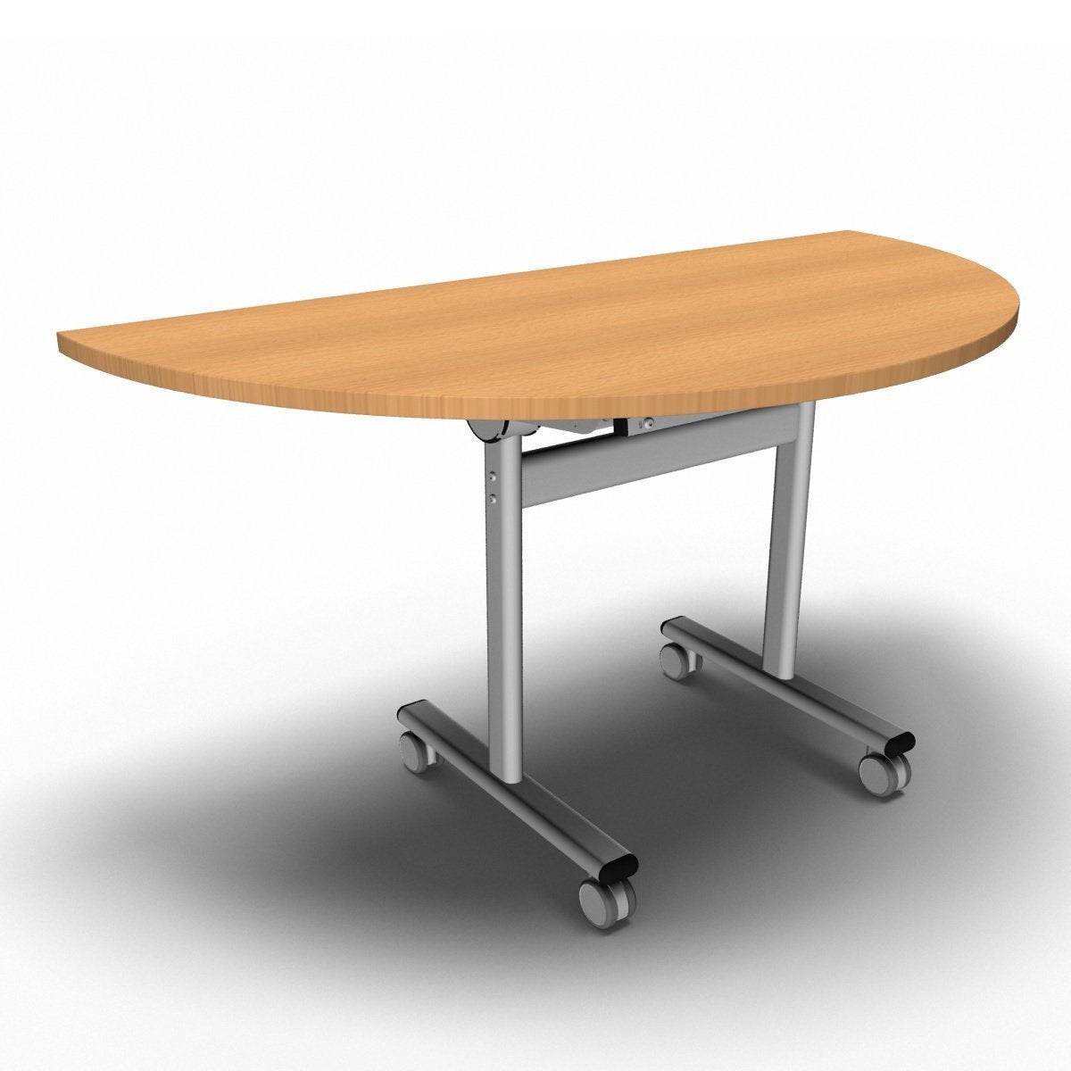 Table 1400 x 700 x 720mm / Semi Circular / Beech Synergy Flip Top Tables