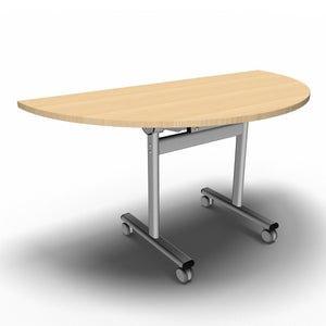 Table 1400 x 700 x 720mm / Semi Circular / Maple Synergy Flip Top Tables