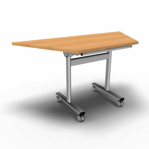 Table 1400 x 700 x 720mm / Trapezoidal / Beech Synergy Flip Top Tables