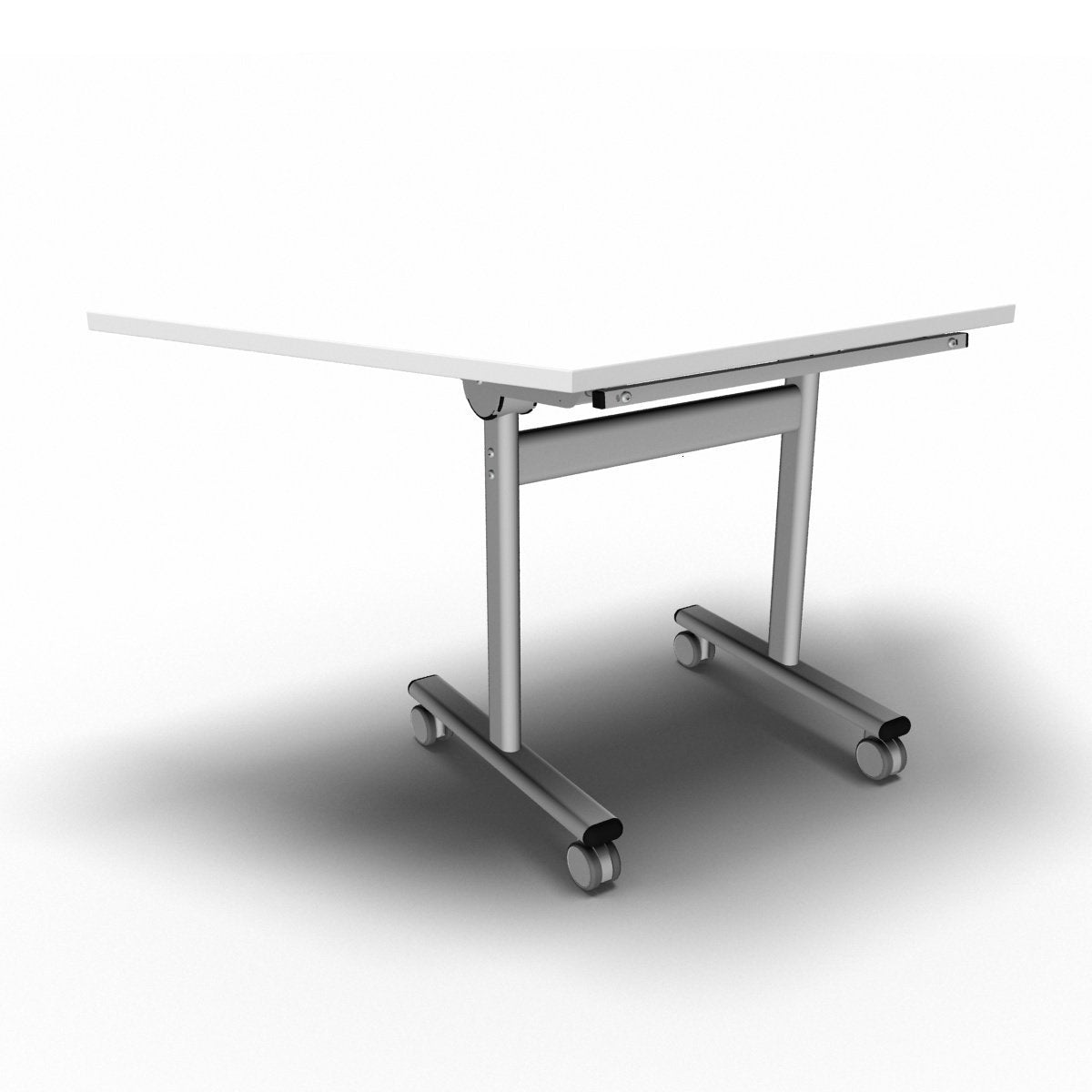 Table 1400 x 700 x 720mm / Trapezoidal / White Synergy Flip Top Tables