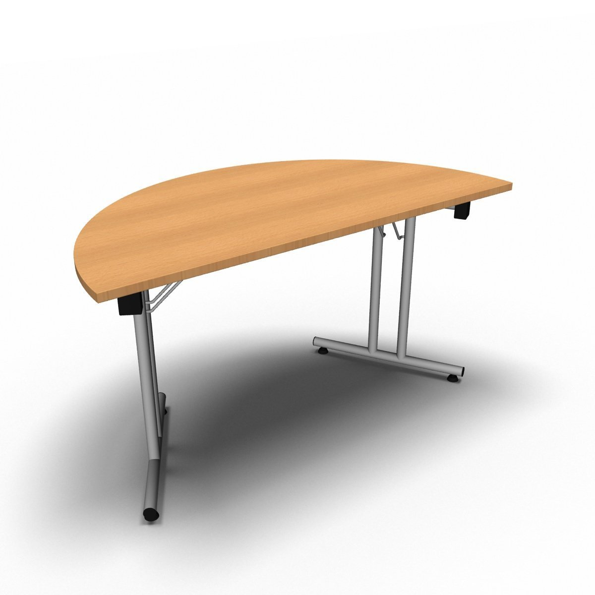 Table 1400 x 700 x 730mm / Semi Circular / Beech Synergy Folding Tables