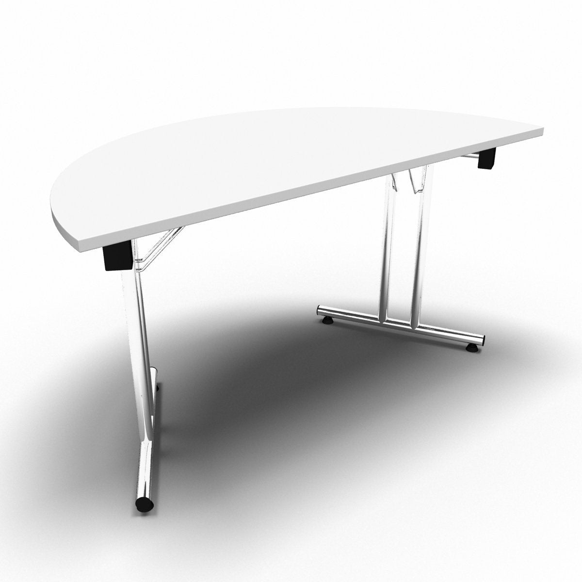 Table 1400 x 700 x 730mm / Semi Circular / White Synergy Folding Tables