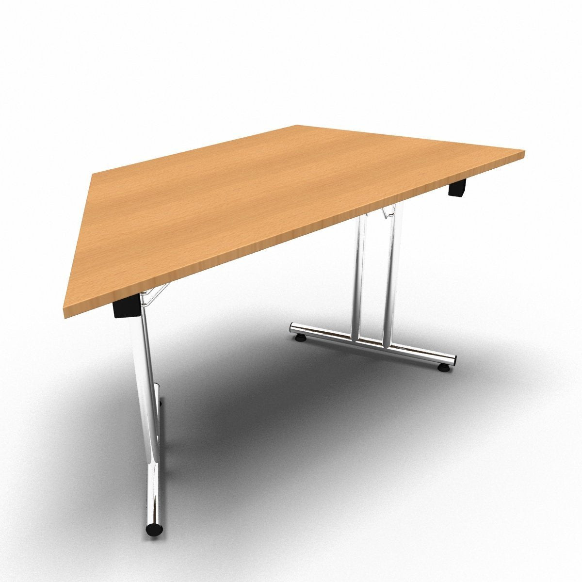 Table 1400 x 700 x 730mm / Trapezoidal / Beech Synergy Folding Tables