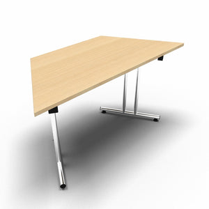 Table 1400 x 700 x 730mm / Trapezoidal / Maple Synergy Folding Tables