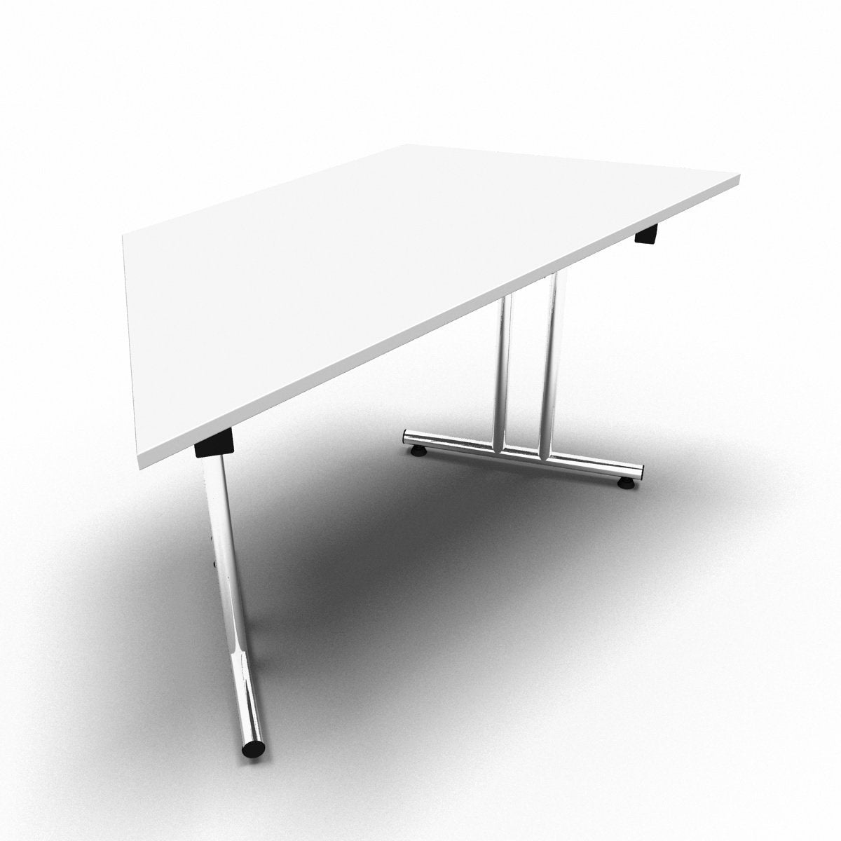Table 1400 x 700 x 730mm / Trapezoidal / White Synergy Folding Tables