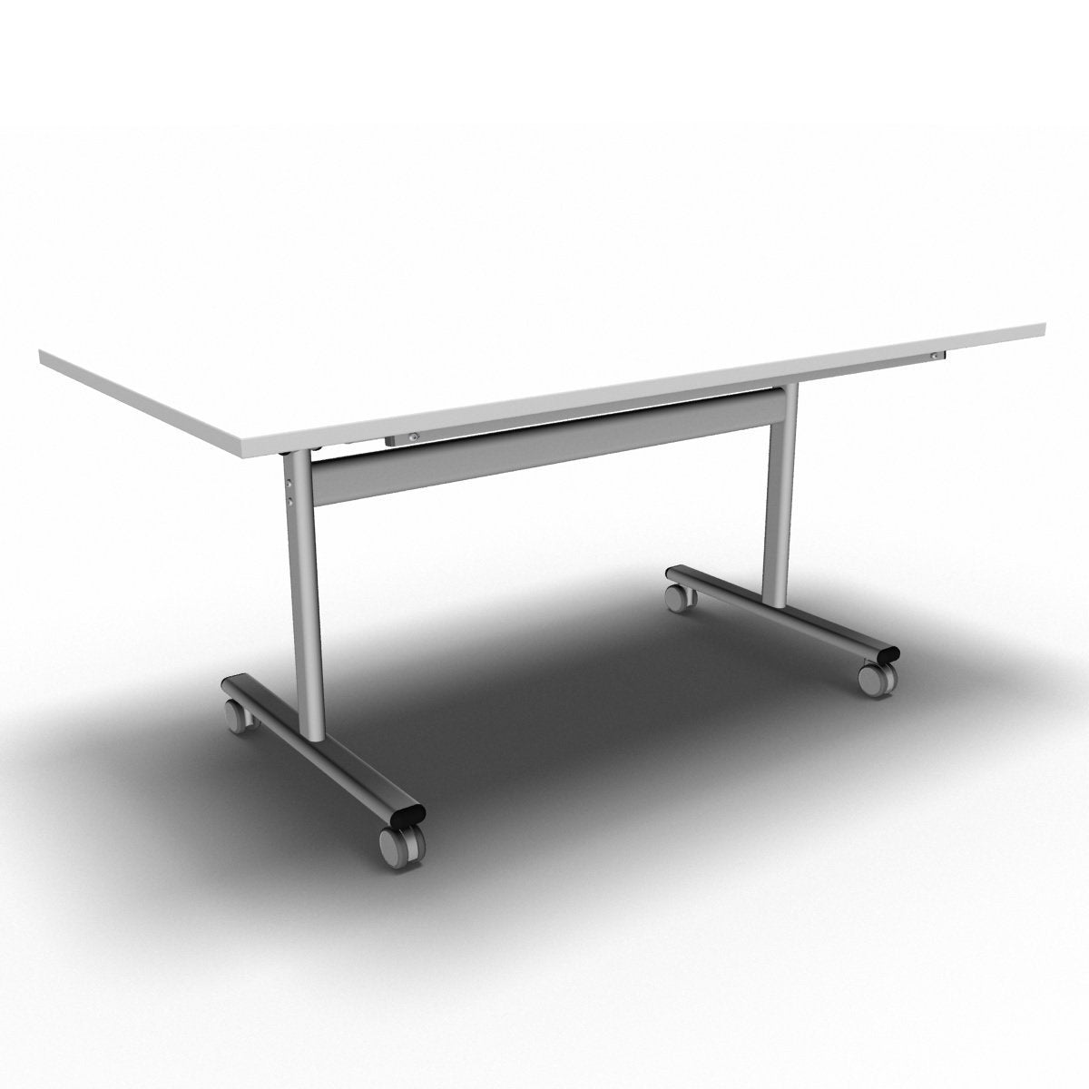 Table 1600 x 800 x 720mm / Rectangular / White Synergy Flip Top Tables