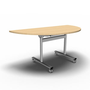 Table 1600 x 800 x 720mm / Semi Circular / Maple Synergy Flip Top Tables