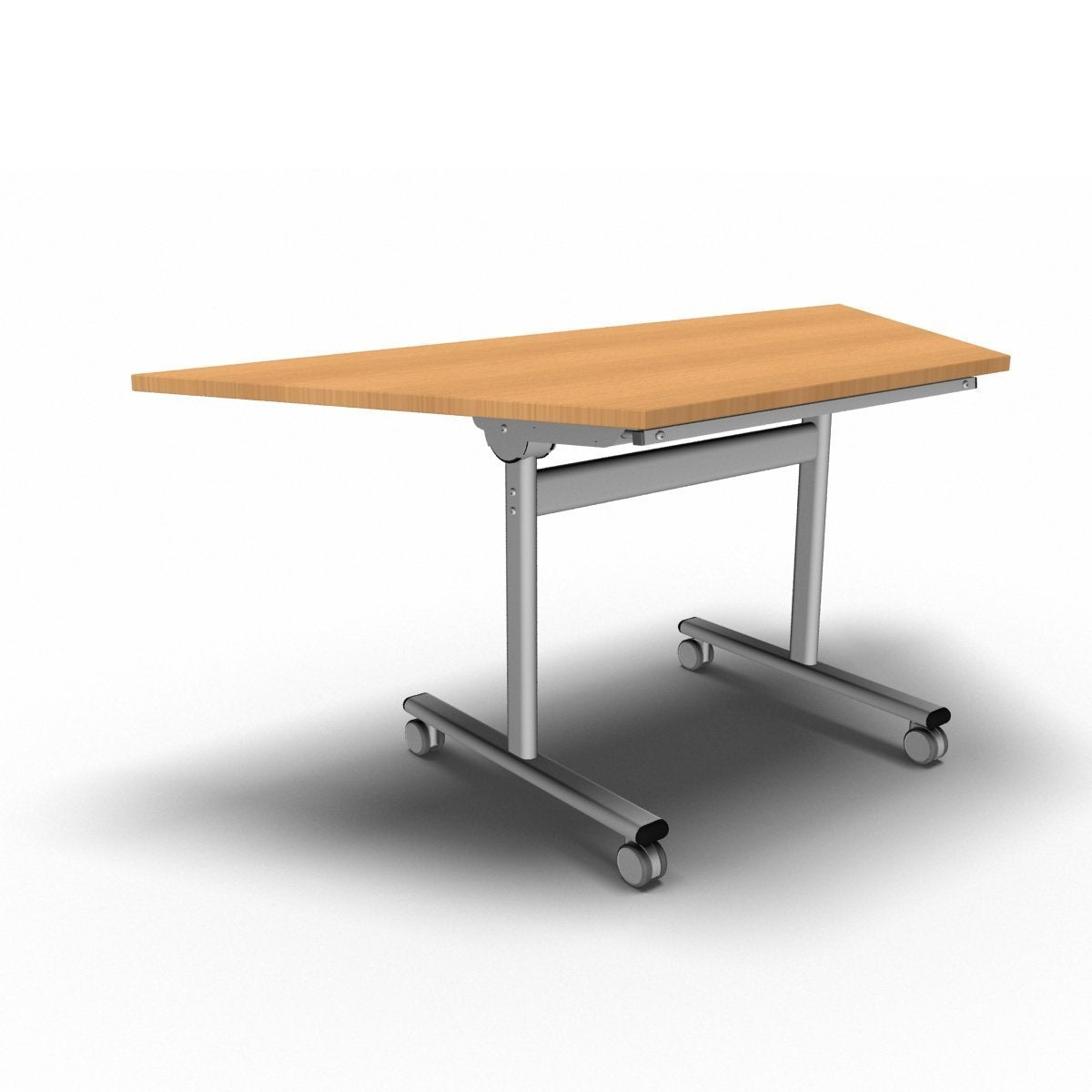 Table 1600 x 800 x 720mm / Trapezoidal / Beech Synergy Flip Top Tables