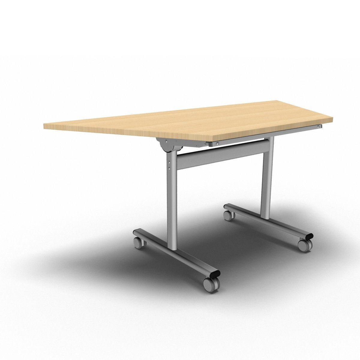 Table 1600 x 800 x 720mm / Trapezoidal / Maple Synergy Flip Top Tables