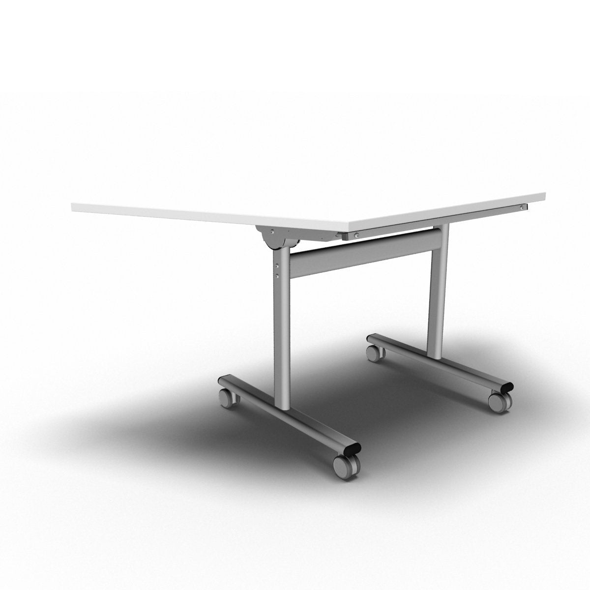 Table 1600 x 800 x 720mm / Trapezoidal / White Synergy Flip Top Tables