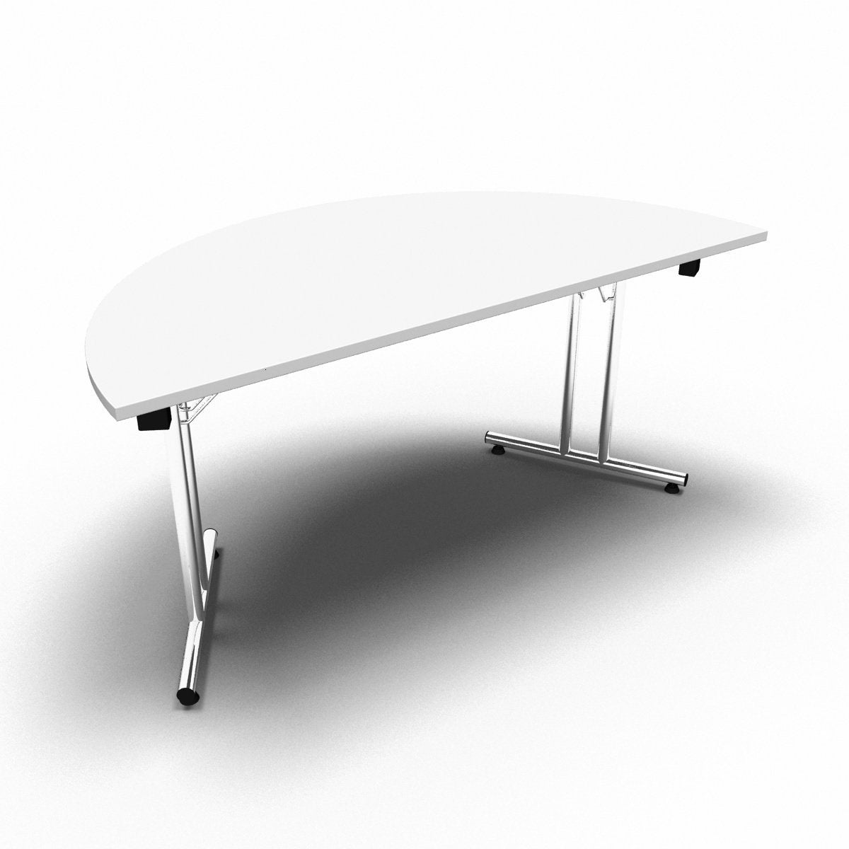 Table 1600 x 800 x 730mm / Semi Circular / White Synergy Folding Tables