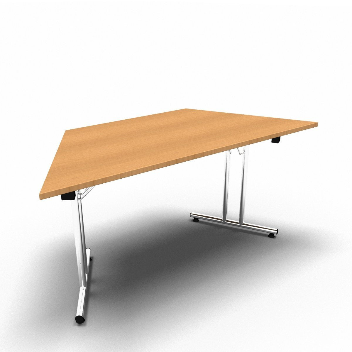 Table 1600 x 800 x 730mm / Trapezoidal / Beech Synergy Folding Tables