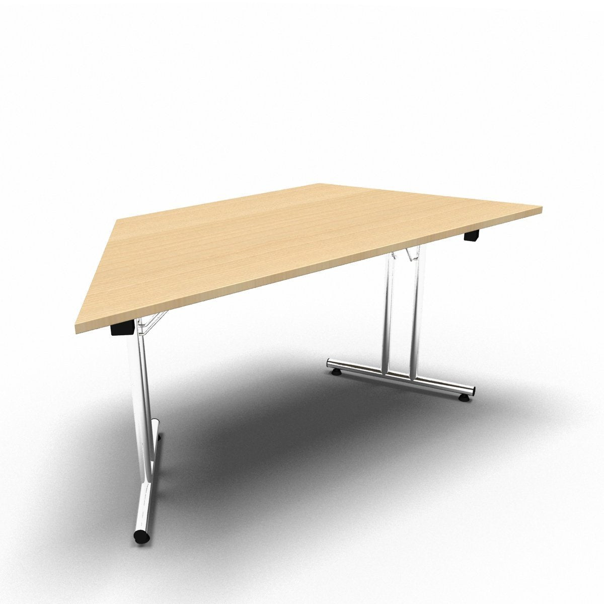 Table 1600 x 800 x 730mm / Trapezoidal / Maple Synergy Folding Tables