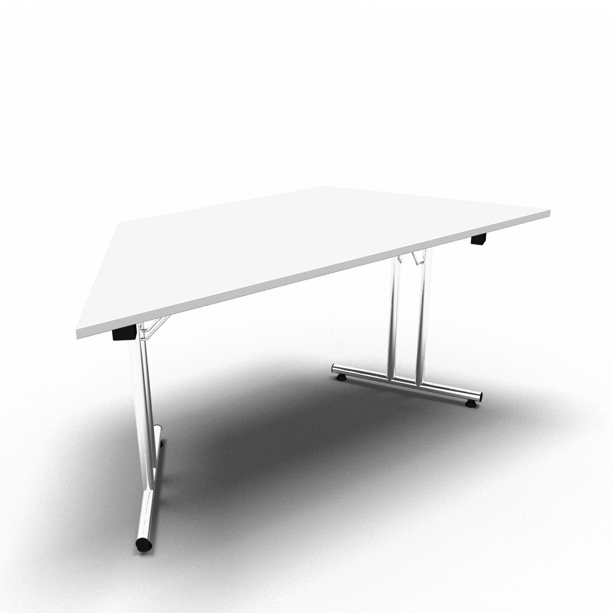 Table 1600 x 800 x 730mm / Trapezoidal / White Synergy Folding Tables