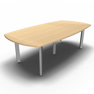 Table 2400 x 1200mm / Maple Synergy Boardroom Tables