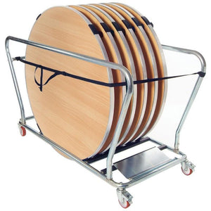table storage trolley Storage Trolley For Round Folding Tables