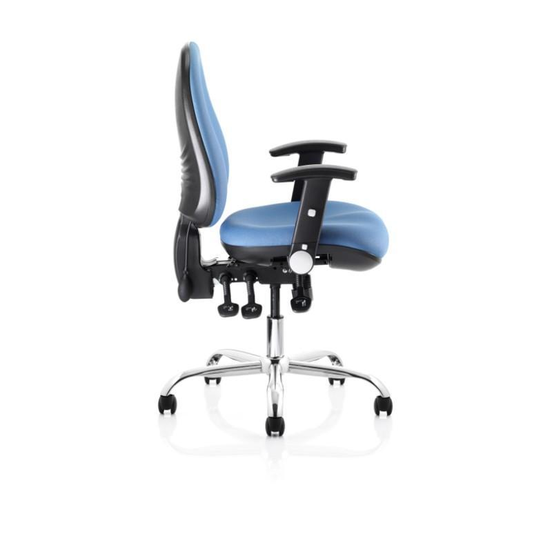 task chair Black Height Adjustable Arms / Black Nylon Spider Base / Standard Ergotek High Back Task Chair Black Height Adjustable Arms / Black Nylon Spider Base / Standard