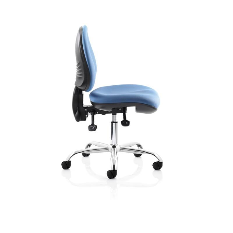 task chair Black Height Adjustable Arms / Black Nylon Spider Base / Standard Ergotek Mid Back Task Chair Black Height Adjustable Arms / Black Nylon Spider Base / Standard