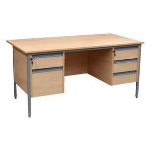 Teacher's Desks Teacher's Double Pedestal Desk