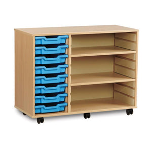 Tray Unit 8 Tray Shelving Unit