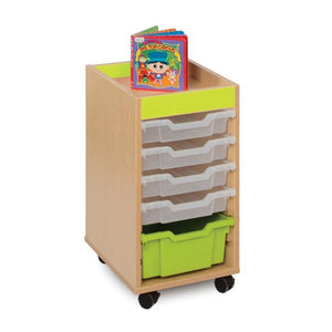 Tray Unit Candy Colours 6 Shallow Tray Unit