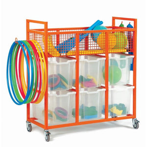 Tray Unit Sports Storage Trolley