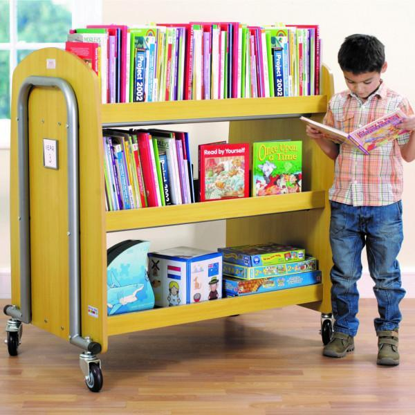 Trolley Double Sided Book Trolley