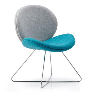 tub style chair Chair with Cross Over Skid Base Wave Chair Chair with Cross Over Skid Base