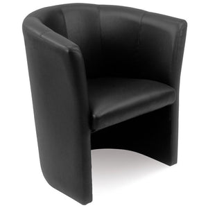 tub style chair Retro Tub Chair, Black Retro Leather Tub Retro Tub Chair, Black